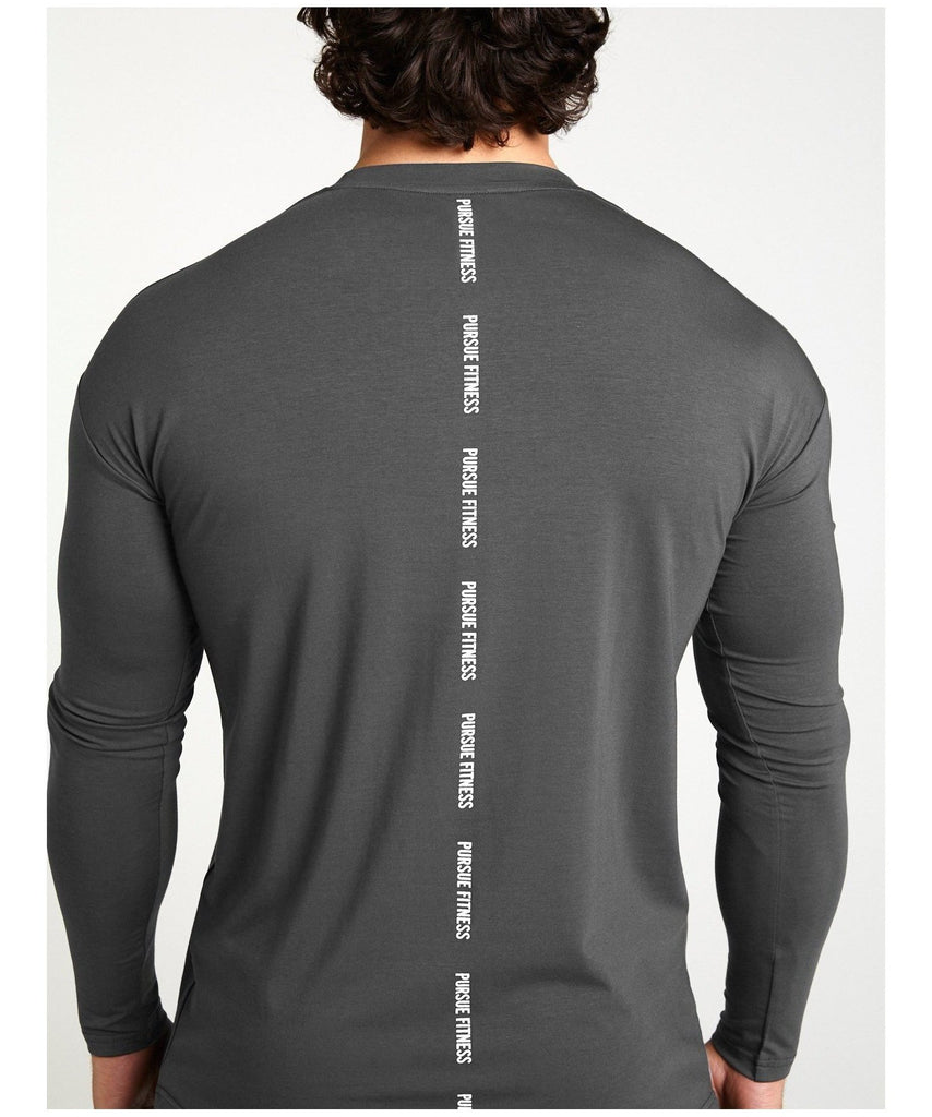 Pursue Fitness Ultra Lifestyle Long sleeve T-Shirt Slate
