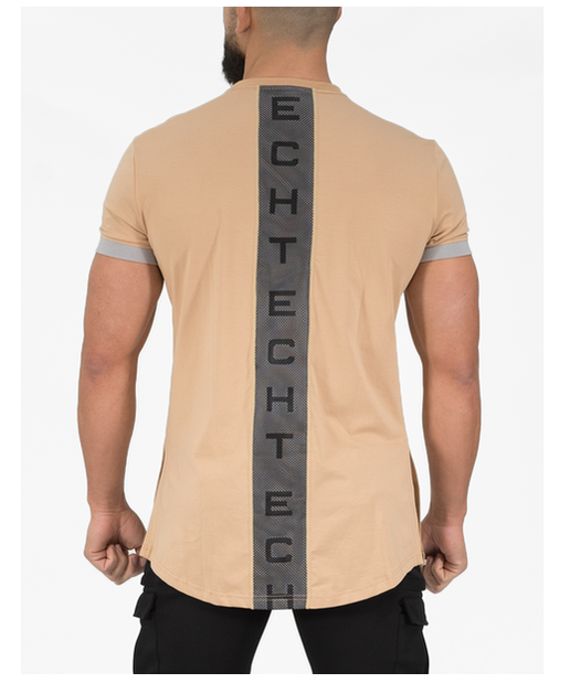 Echt Phase Vent T-Shirt Tan-Echt-Gym Wear