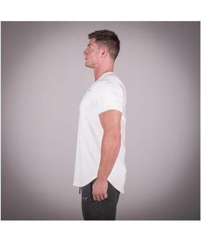 Squat Wolf Razor Back T-shirt Cool White-Squat Wolf-Gym Wear