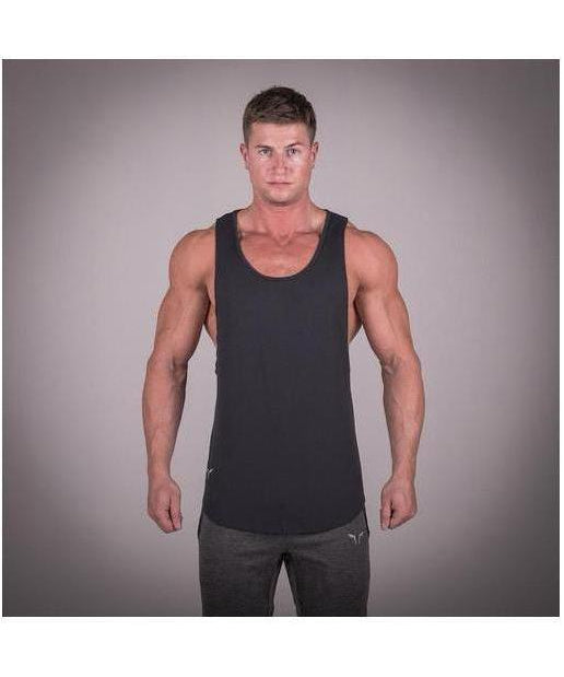 Squat Wolf Muscle Stringer Black-Squat Wolf-Gym Wear