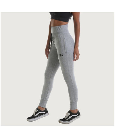 RIPT High Waisted Cuffed Joggers Grey-RIPT-Gym Wear