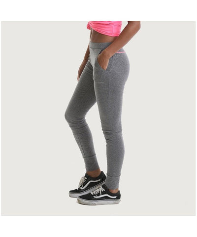 RIPT Contrast Stitch Cuffed Joggers Grey-RIPT-Gym Wear