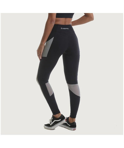 RIPT Performance Leggings With Contrast Mesh Panels Black-RIPT-Gym Wear