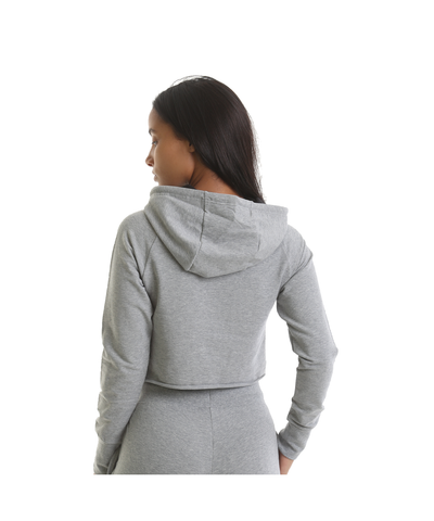 RIPT Cropped Hoodie Grey-RIPT-Gym Wear