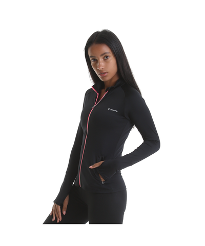 RIPT Performance Zip Up Jacket Black-RIPT-Gym Wear