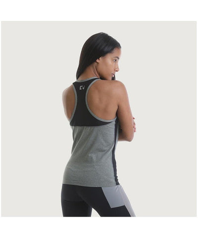 RIPT Mesh Panelled Performance Vest Grey-RIPT-Gym Wear