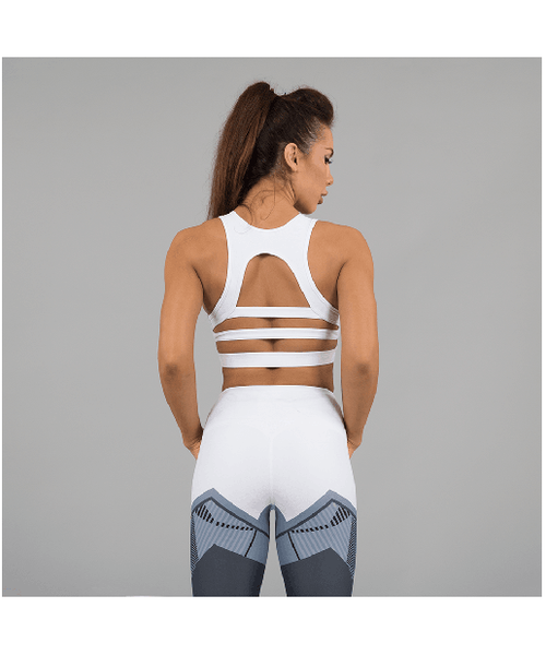 Versa Forma Ark Crop Bra White Edition-Versa Forma-Gym Wear