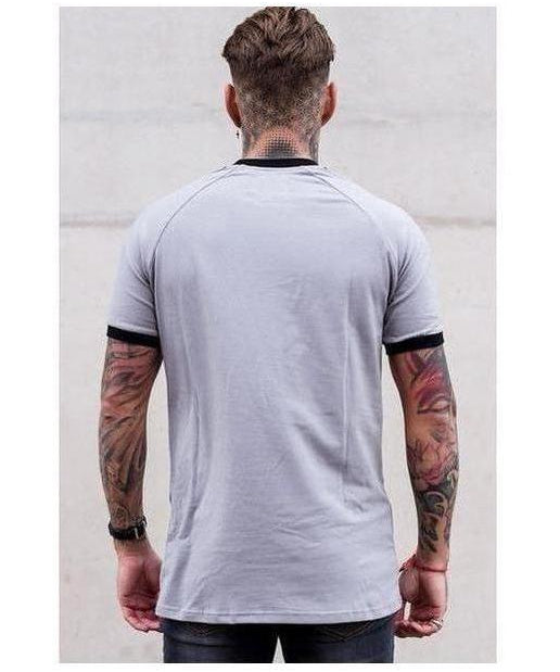 Sinners Attire Ringer T-Shirt Slate-Sinners Attire-Gym Wear