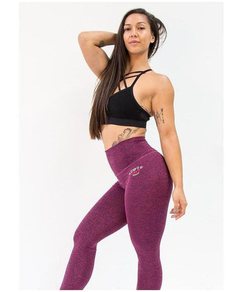 Stop It I Like It High Waisted Scrunch Leggings Cherry Ripe-Stop It I Like It-Gym Wear