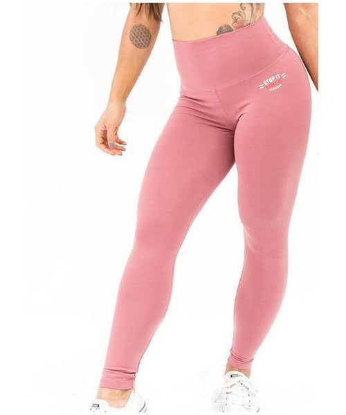 Stop It I Like It High Waisted Scrunch Leggings Pink