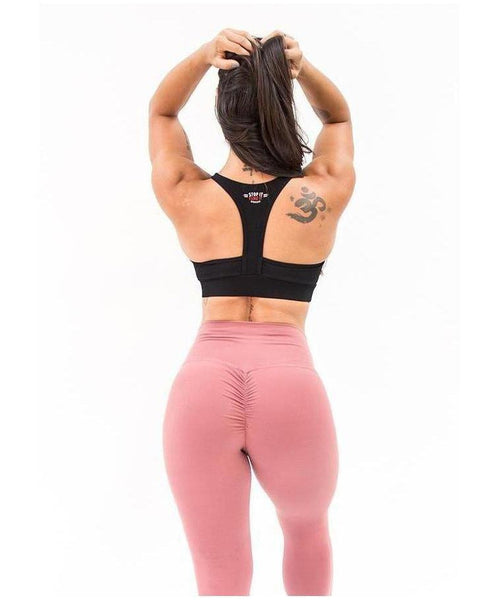Stop It I Like It High Waisted Scrunch Leggings Pink-Stop It I Like It-Gym Wear