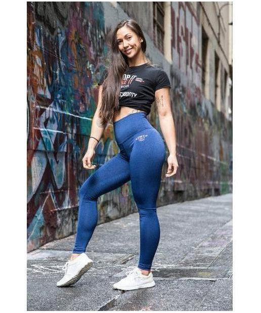 Stop It I Like It High Waisted Scrunch Leggings Blueberry Blast-Stop It I Like It-Gym Wear