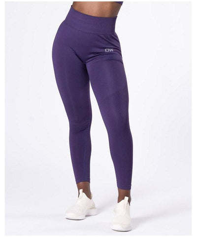 ICIW Define Seamless High Waited Leggings Purple-ICIW-Gym Wear