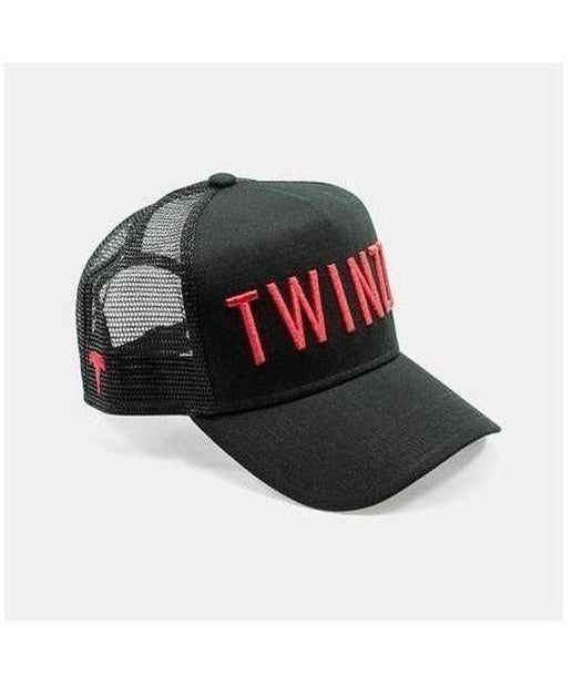 Image of Twinzz 3D Mesh Trucker Cap Black/Red
