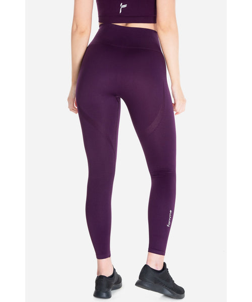 Famme Vortex High Waisted Leggings Wine
