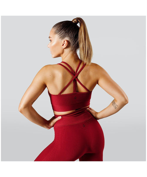 Workout Empire Regalia Flow Sports Bra Red
