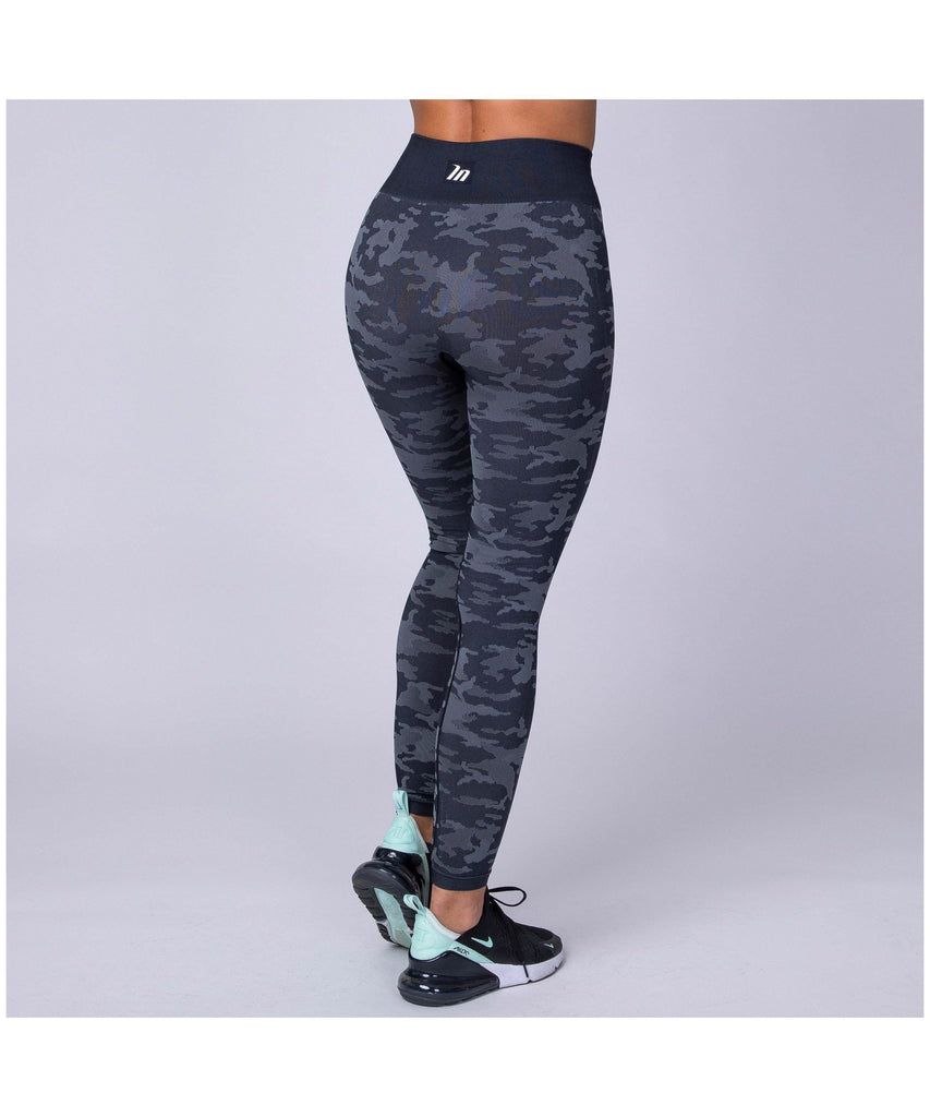 Muscle Nation Seamless High Waisted Leggings Dark Camo-Muscle Nation-Gym Wear