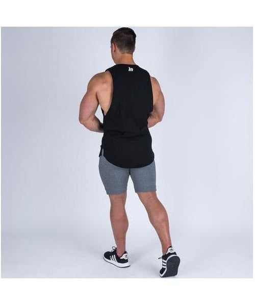 Muscle Nation Oversize Drop Armhole Sleeveless T-Shirt Black-Muscle Nation-Gym Wear