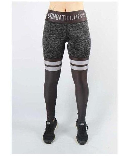 Combat Dollies Mix High Leg Fitness Leggings Black-Combat Dollies-Gym Wear