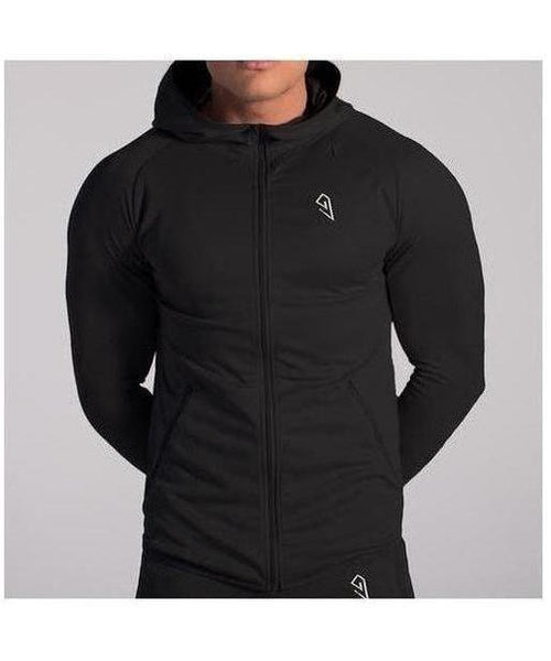 GymJam Fine Fit Hoodie Black-GymJam-Gym Wear
