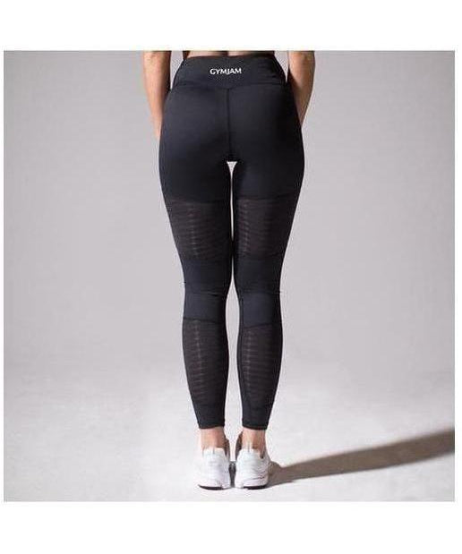 GymJam Aura Mesh High Waisted Leggings Black-GymJam-Gym Wear