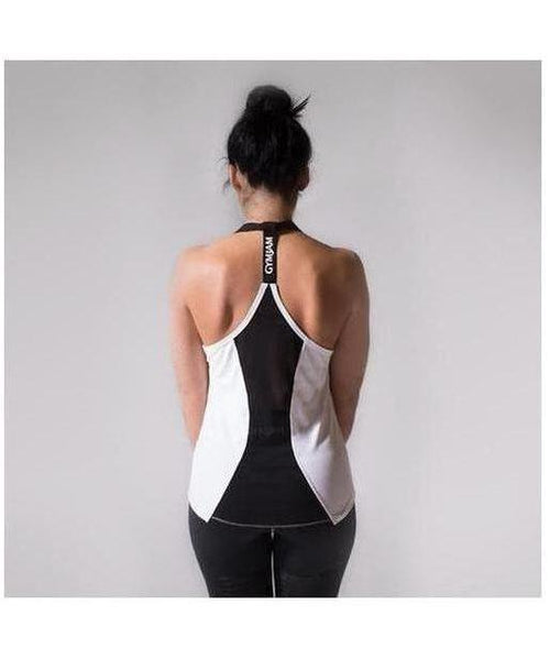 GymJam Aura Vest White/Black-GymJam-Gym Wear