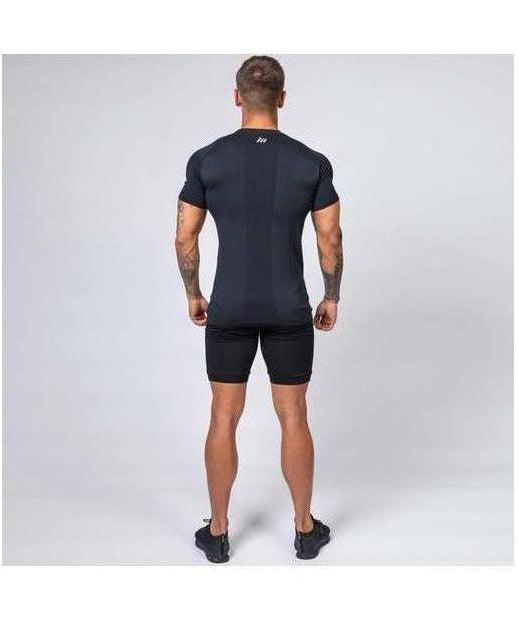 Muscle Nation Ghost V2 Seamless T-Shirt Black-Muscle Nation-Gym Wear