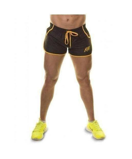 Image of Aspire Wear Aesthetic Shorts Black/Gold
