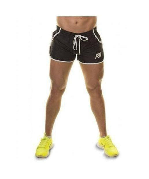 Image of Aspire Wear Aesthetic Shorts Black and White