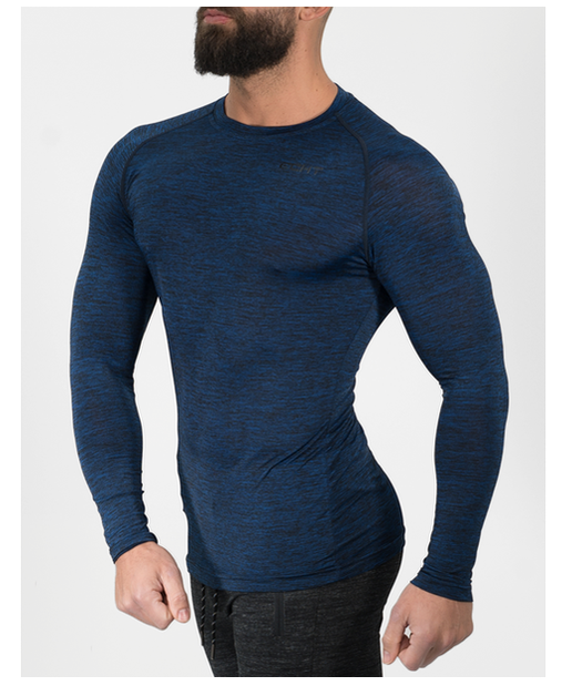 Echt Impetus Dry Long Sleeve T-Shirt Azure-Echt-Gym Wear