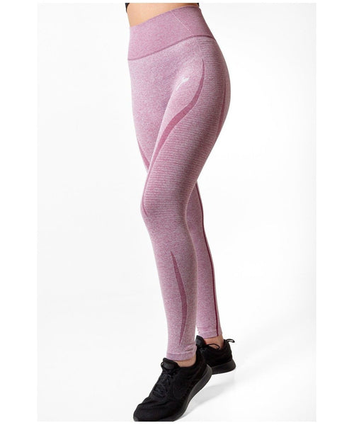 Famme Elevate Vortex High Waisted Leggings Bordeaux-Famme-Gym Wear