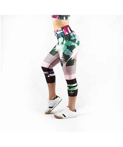 Combat Dollies Botanic Capri Fitness Leggings-Combat Dollies-Gym Wear