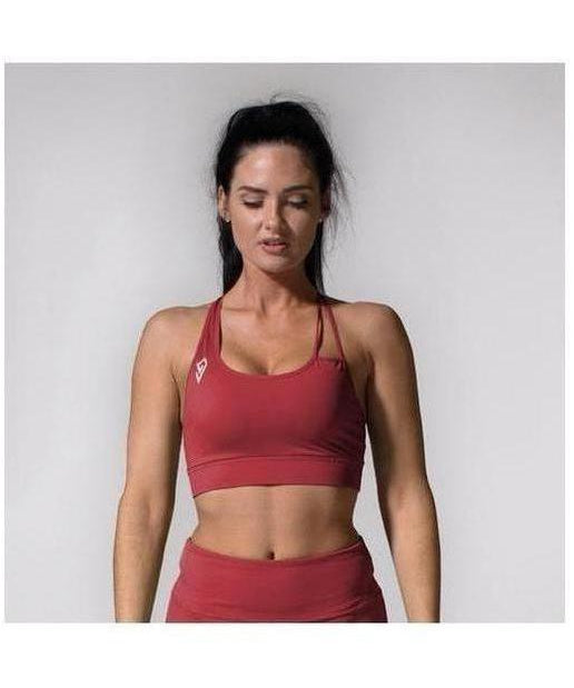 GymJam Aura Sports Bra Burgundy-GymJam-Gym Wear