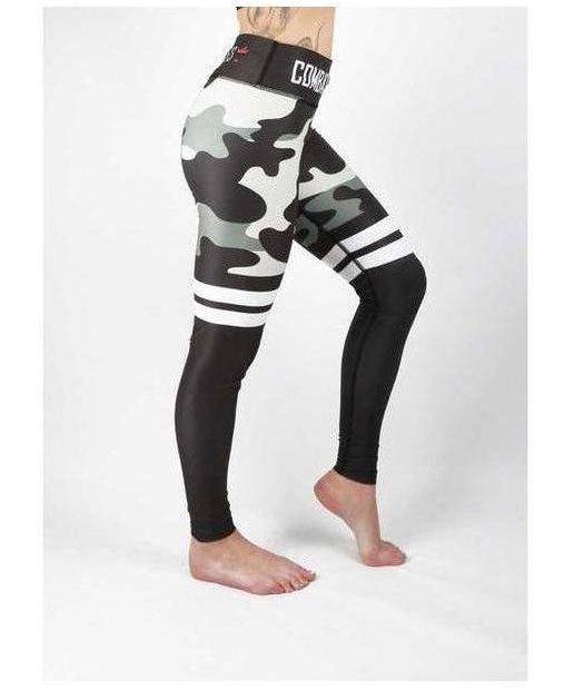 Combat Dollies Stripe Fitness Leggings Camo-Combat Dollies-Gym Wear