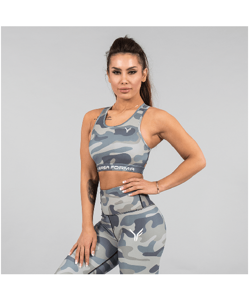 Versa Forma Camo Crop Bra Army Edition-Versa Forma-Gym Wear