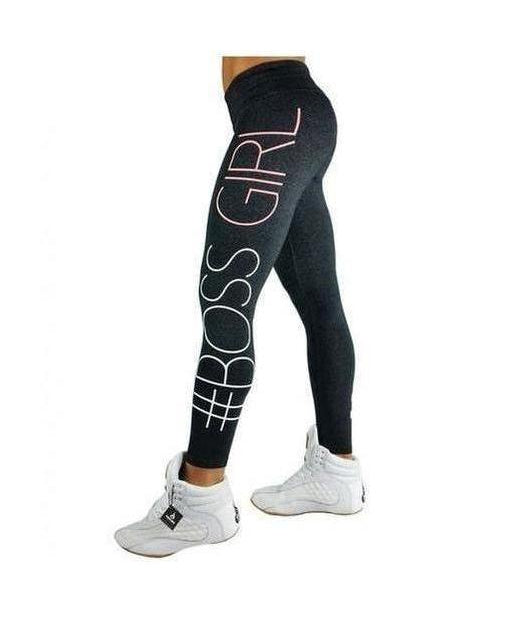 RyderWear Womens Boss Girl Leggings Charcoal