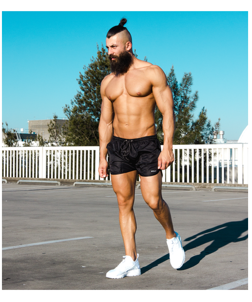 Echt Repel Curve Shorts Stealth Black-Echt-Gym Wear