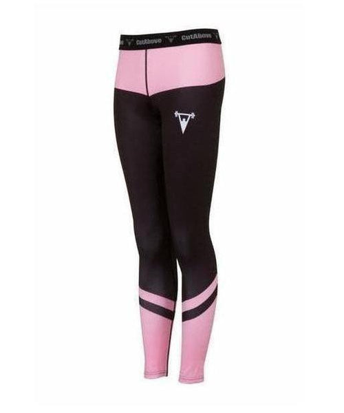 Cut Above Performance Womens Leggings Pink-Cut Above-Gym Wear
