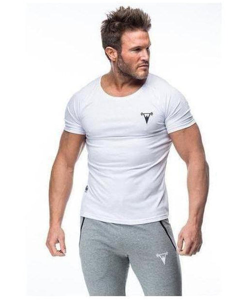 Cut Above 'Basik' Scoop Neck T-Shirt White-Cut Above-Gym Wear