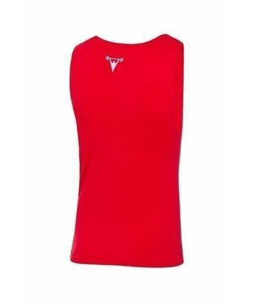 Cut Above 'Razer' Cut Off Red-Cut Above-Gym Wear