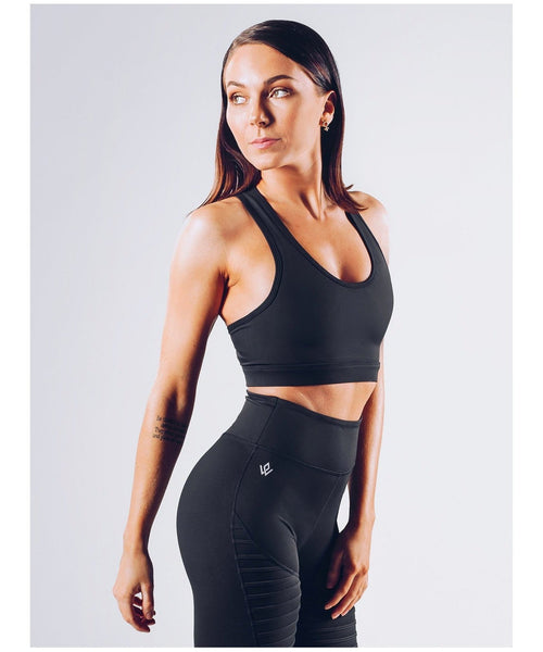 Workout Empire Regalia Curve Sports Bra Black-Workout Empire-Gym Wear