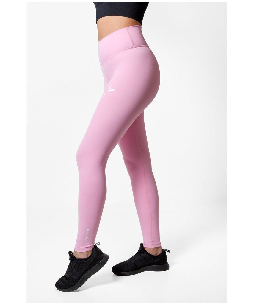 Famme Essential Seamless High Waisted Leggings Pink-Famme-Gym Wear