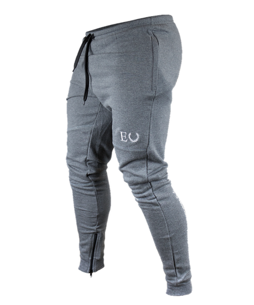 Echt Fitted Zip Up Jogger Granite