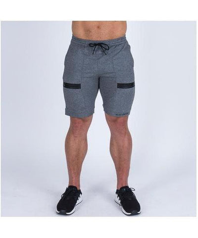 Muscle Nation V2 Tapered Shorts Grey-Muscle Nation-Gym Wear
