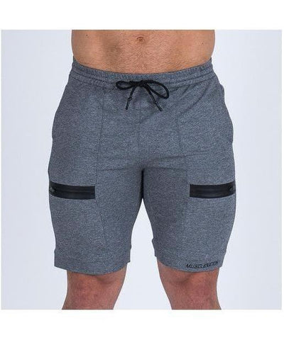 Muscle Nation V2 Tapered Shorts Grey