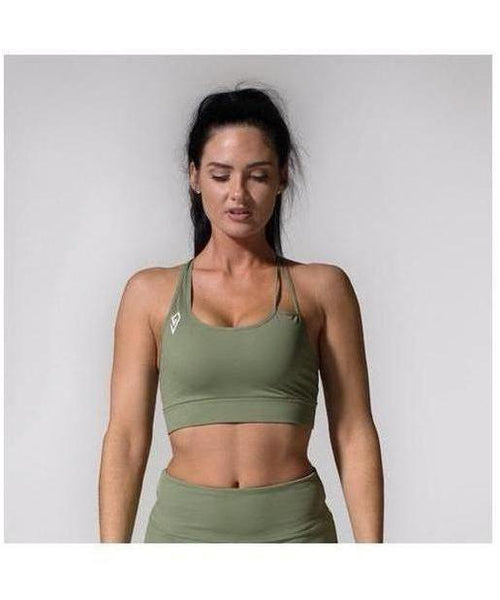 GymJam Aura Sports Bra Khaki-GymJam-Gym Wear