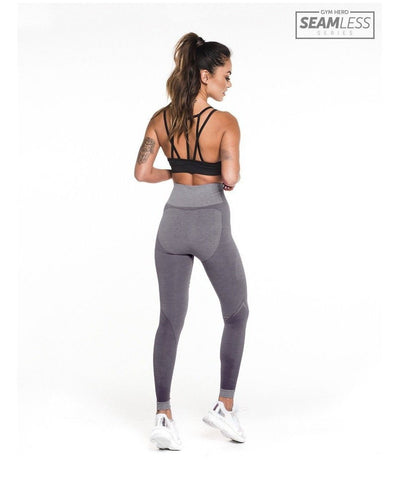 Gym Hero Seamless High Waisted Leggings Grey-Gym Hero-Gym Wear