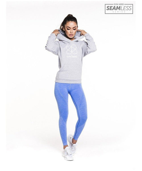 Gym Hero Seamless High Waisted Leggings Baby Blue-Gym Hero-Gym Wear