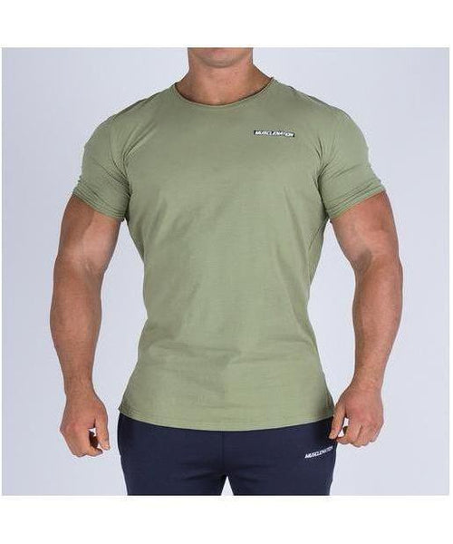 Muscle Nation Oversize Nation T-Shirt Khaki-Muscle Nation-Gym Wear