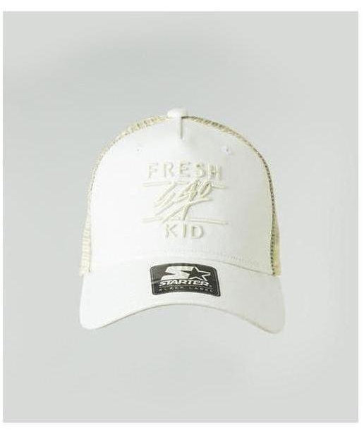 Fresh Ego Kid Mesh Trucker Cap White
